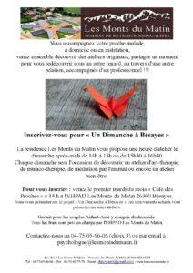 Affiche un dimanche à Bésayes aide aux aidants EHPAD Les Monts du Matin