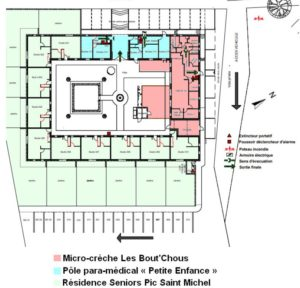 Plan général Projet EHPAD Les Monts du Maitn & Résidence Seniors